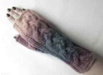 rękawiczki? ciepłe modne dziergane awangardowe kolorowe
