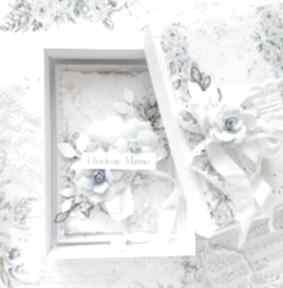 Kartka na dzień matki w niebieskich kolorach scrapbooking kartki