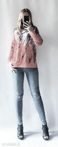 Sweter, bluza z kapturem boho swetry feltrisimi elegancki, boho,