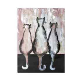 Koty ml 3 , obraz ręcznie malowany aleksandrab koty, obraz