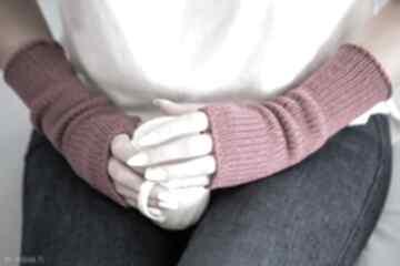 Mitenki - fuksja rękawiczki hermina wełniane, bez palców