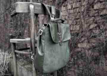 Lilith plecak torba zielona skóra czajkaczajka plecak,