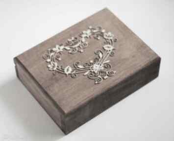 Pudełko na obrączki ślubne ślub biala konwalia pudełko