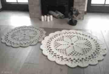 Komplet 2 dywanów artedania dywan szydełkowy, okrągły