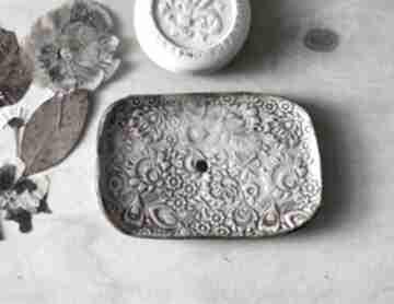 "Ceramiczna mydelniczka ""na ludowo"" ceramika ceramystiq studio"