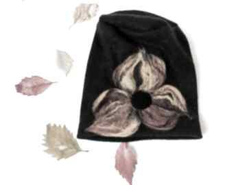 Czapka wełniana handmade-czapka handmade na podszewce, rozmiar