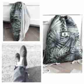 Worek plecak wodoodporny liście palmowe tropikalny jeans tasha