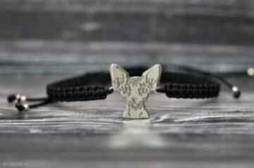 Sfinks sphynx kot - bransoletka srebro próby 925 pozłacane pasja