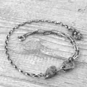 Bransoletka srebrna z pirytem loopart bransoleta piryt, oksyda