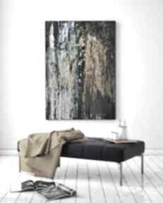 Opal stone - abstrakcja ręcznie malowana na płótnie 100x70 cm