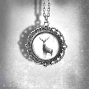 """Medalion """"jeleń 3"""" - deer zdobiony naszyjniki liliarts jeleń"""