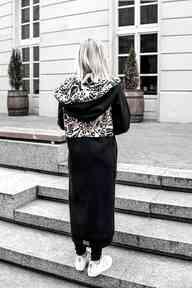 Mega długa bluza brazylia płaszcze ekoszale kurtka w-printy