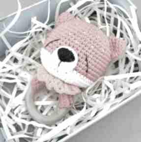 Grzechotka - gryzak lisek zabawki dziane grzechotka, gryzak