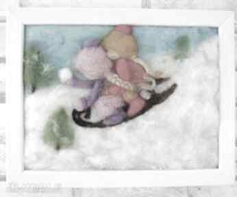 Pomysł świąteczny upominek. saneczkach obraz kolekcji winter zima