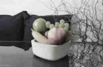 Betonowa kwadratowa miska na owoce i przekąski dekoracje shibui