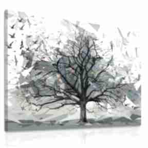 ludesign gallery: obraz-z-drzewem drzewo-z-ptakami praki-origami