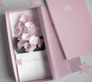 Karteczki 3d kartki mira flowers93 gratulacje, różowe, prezent