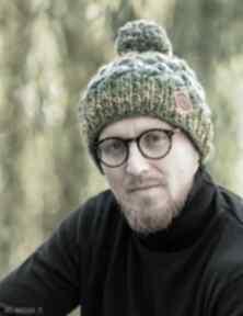 Happy jesienne łąki czapki brain inside czapka, zimowa, wełniana
