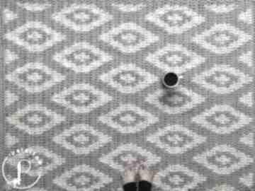 Dywan geometryczny petelkowo dywan, romby, wzór, geometryczny