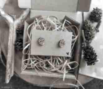 Homemade by N. Kolczyki żołędzie, biżuteria