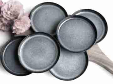 Zestaw deserowy - talerz ceramiczny 6 szt ceramika tyka ceramika