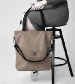 Torba z wodoodpornego nubuku w kolorze musztardowym torebki bags