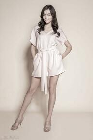 Krótki kombinezon - kb120 różowy ubrania lanti urban fashion