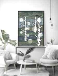 Drzewa 50x70cm malgorzata domanska obraz, drzewa, natura, plakat