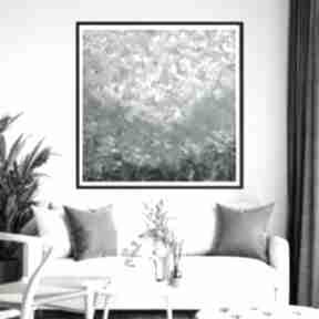 Obraz ręcznie malowany 90x90 byferens abstrakcyjny, akryl