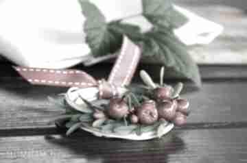 Mini wianek dekoracje wooden love wianek, miniwianek, jabłko