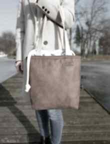 Duża torba z kominem - brąz na ramię musslico torba, shoperka