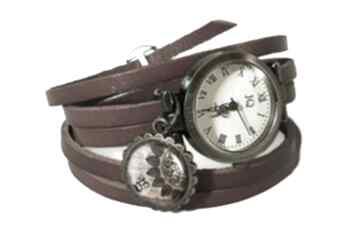 Mandala zegarek bransoletka skórzanym pasku skórzany orientalna