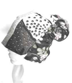 Czapka damska na podszewce uniwersalna patchworkowa, polecam box