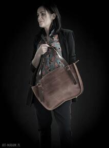 Ręcznie robiony kuferek torba torebka ładybuq art skórzana