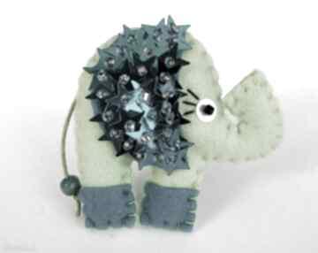 Cekinowy słoń broszka z filcu broszki tinyart filc, broszka