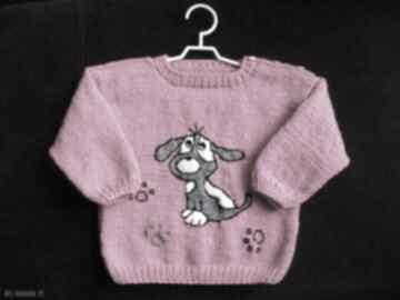 """Sweterek """"pieseczek"""" gaga art sweterek, rękodzieło, włóczka,"""