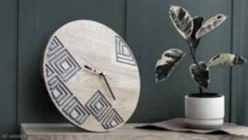 Zegar ścienny z drewna dębowego, żywica, wzór nr 3 zegary