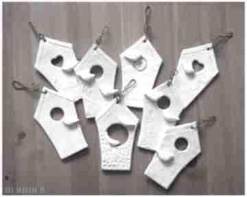 Karmniki dla ptaków zawieszki ceramika wylegarnia pomyslow