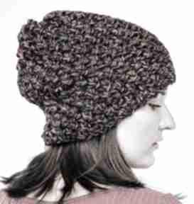 Czapka hand made czapki hermina damska czapka, ciepła wełniana