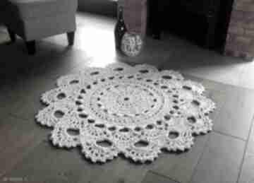 Dywan biała lilia, 120 cm artedania ze sznurka, okrągły