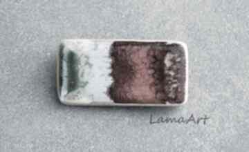 Pomysł na świąteczny prezent! Broszka ceramiczna broszki lamaart