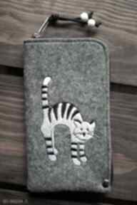 HappyArt! smartfon pokrowiec futerał kotek prezent koraliki