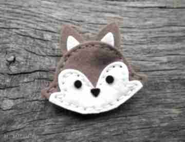 ozdoby do włosów: spinka wiewiórka jesień