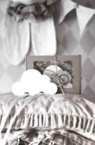 Drewniany organizer na spinki biała chmurka pokoik dziecka groko