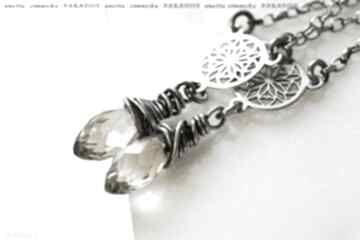 Srebro, kolczyki - kryształy lemon w srebrze anetta zimnicka