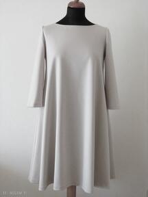 7 - sukienka beżowa sukienki lalu sukienka, sukienki, dzianina