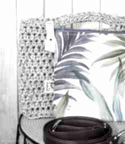 Looped szary melanż torebki just catch handmade szydełko