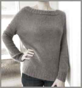 Kaszmirowy pulower w kolorze mlecznej czekolady swetry soie