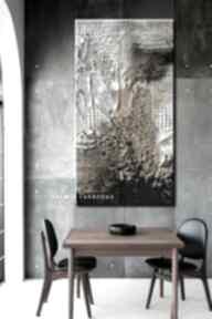dekoracje? burza-piaskowa obraz-fakturowany szary-salon