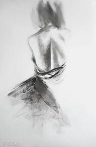 Woman 100x70 dom galeria alina louka duży obraz kobieta, czarno